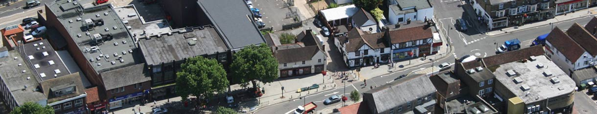 aerial picture of rayleigh high street